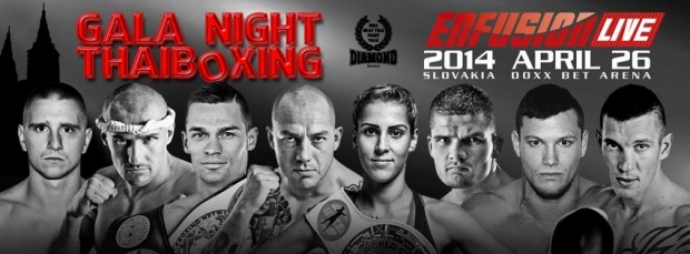GALA NIGHT THAIBOXING & ENFUSION LIVE 2014 - výsledky.